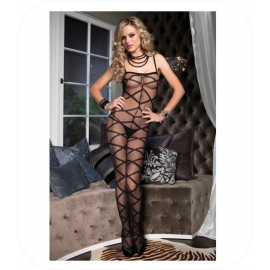 Opaque Criss Cross Bodystockings