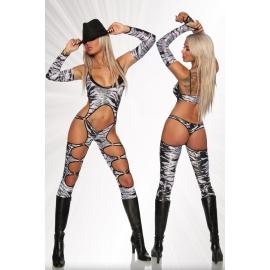 Zebra Print GoGo Jumpsuit