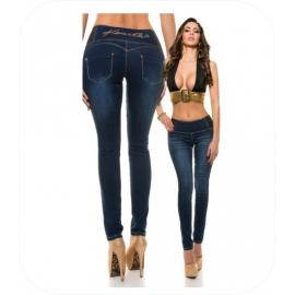KouCla HighWaist Skinny Jeans Dark Blue