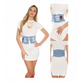 Jeans Taille korset - Tailleband