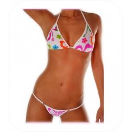 String Bikini Neon Flower