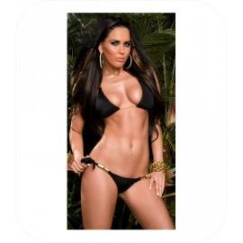Bikini met gouden gespen