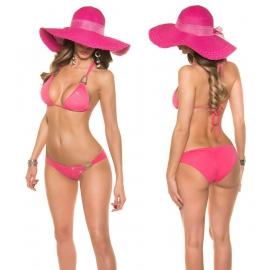 Fuchsia Bikini met strass