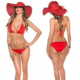 Rood Bikini met strass