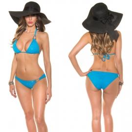 Turquoise Bikini met strass
