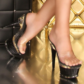 Zwarte GoGo open High Heels