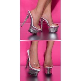 Zilver GoGo open High Heels