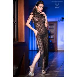 Lang Zwart kanten jurk
