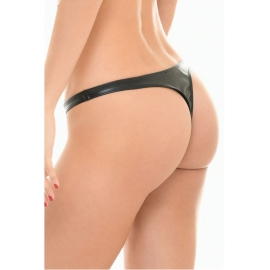 Sam String Lederlook noir