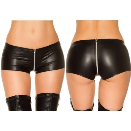 Wetlook Hotpants with chain - 4 kleuren