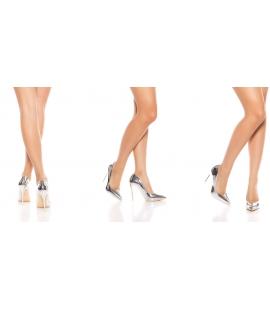 Witte High Heels met ritsen