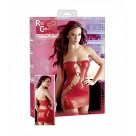 67. Rood Mini Dress met ringen