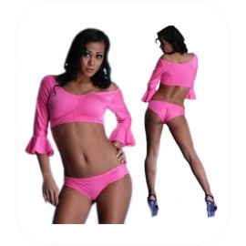 Zwarte Hotpants Set