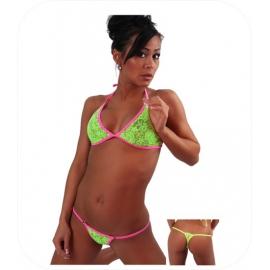 Fluo Groen/Roze Kante Bikini