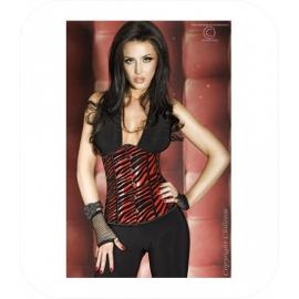 Zwart/Rood Taille Korset