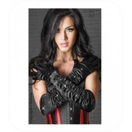 Zwart Handschoenen met Strass