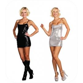 Sequin Mini Dress Black or White