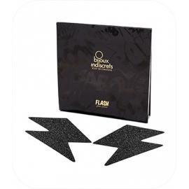Flash - Glinserend Bliksemschicht Zwart