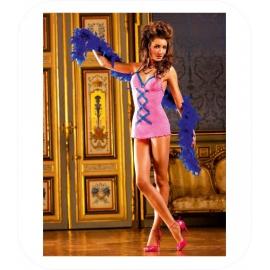 Roze/Blauw Jurkje met ruch