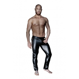 Wetlook broek met veters